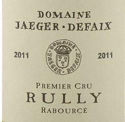Dom. Jaeger Defaix Rully Rabource 1er